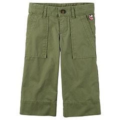 Girls 4-8 Carter's Olive Gaucho Pants