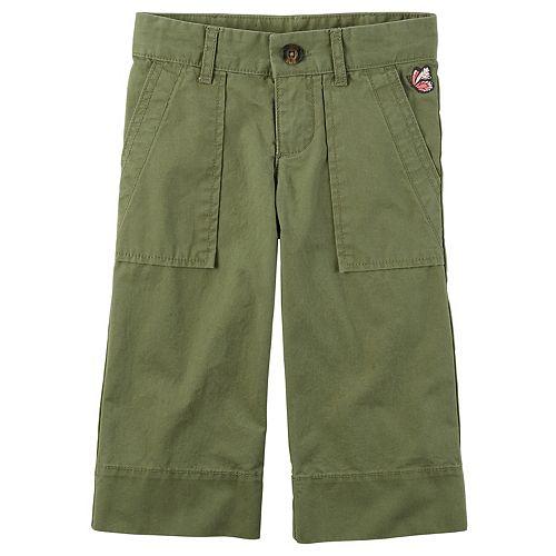 Girls 4-8 Carter's Olive Gaucho Pants