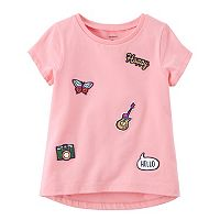 Girls 4-8 Carter's Butterfly, Guitar & Camera Patch Tee