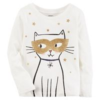Girls 4-8 Carter's Halloween Cat Tee