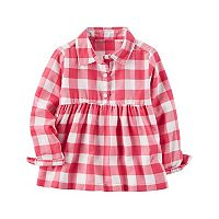 Girls 4-8 Carter's Plaid Babydoll Top
