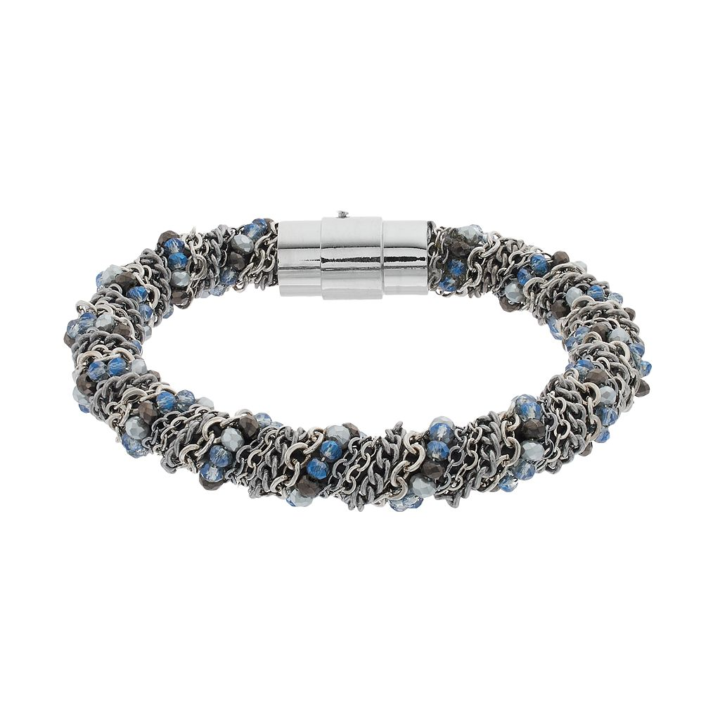 Simply Vera Vera Wang Blue Bead & Chain Wrapped Bracelet
