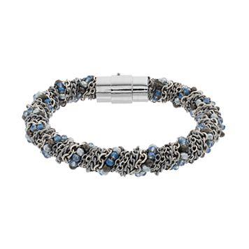 Simply Vera Vera Wang Blue Bead & Chain Wrapped Bracelet