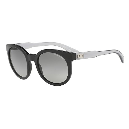 Armani Exchange AX4057S 53mm Round Gradient Sunglasses
