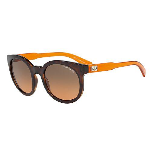 Armani Exchange AX4057S 53mm Round Gradient Sunglasses