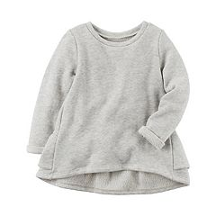 Girls 4-8 Carter's Ruffle Back Gray Pullover Sweater