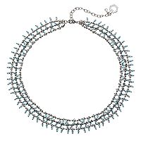 Simply Vera Vera Wang Blue Beaded Multi Strand Necklace