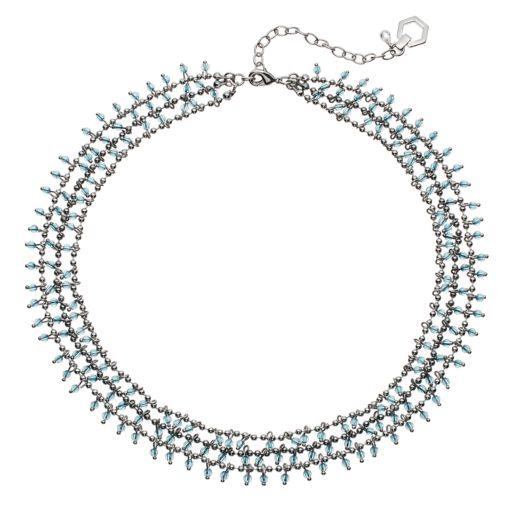 Simply Vera Vera Wang Blue Beaded Multi Strand Necklace