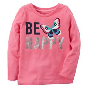 "Girls 4-8 Carter's ""Be Happy"" Long-Sleeved Tee"