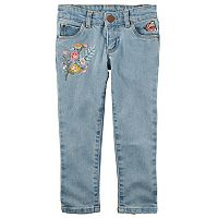 Girls 4-8 Carter's Embroidered Denim Pants