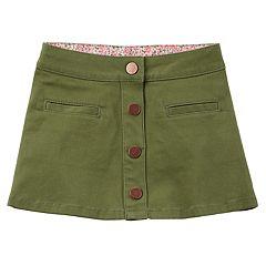 Girls 4-8 Carter's Button-Down Skirt