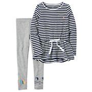 Girls 4-8 Carter's Striped Tunic & 'Smile' Leggings