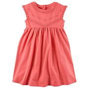 Girls 4-8 Carter's Pink Embroidered Dress
