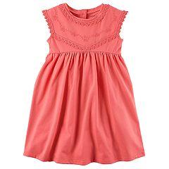 Girls 4-8 Carter's Pink Embroidered Dress