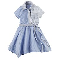 Girls 4-8 Carter's Striped Hankerchief Hem Dress