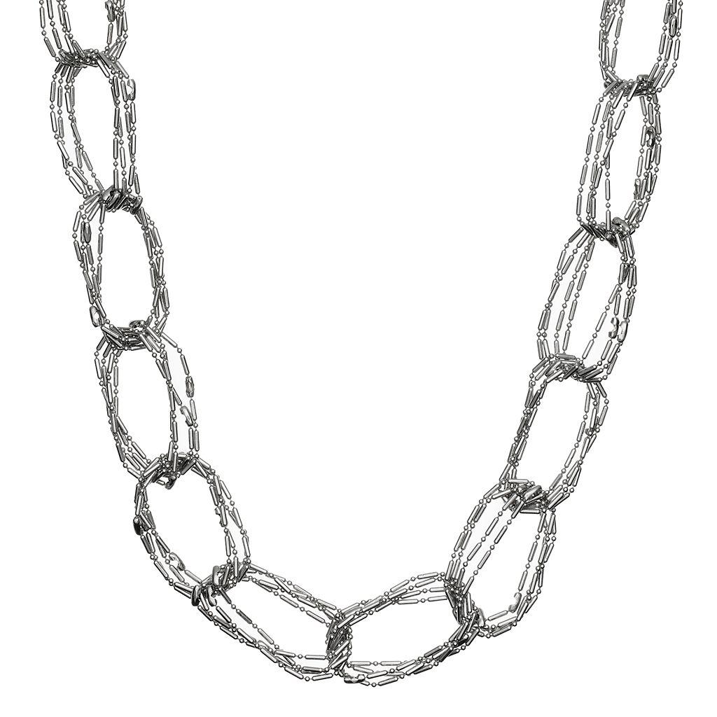 Simply Vera Vera Wang Long Multi Strand Chain Link Necklace