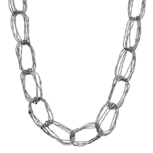 Simply Vera Vera Wang Long Multi Strand Chain Link Necklace