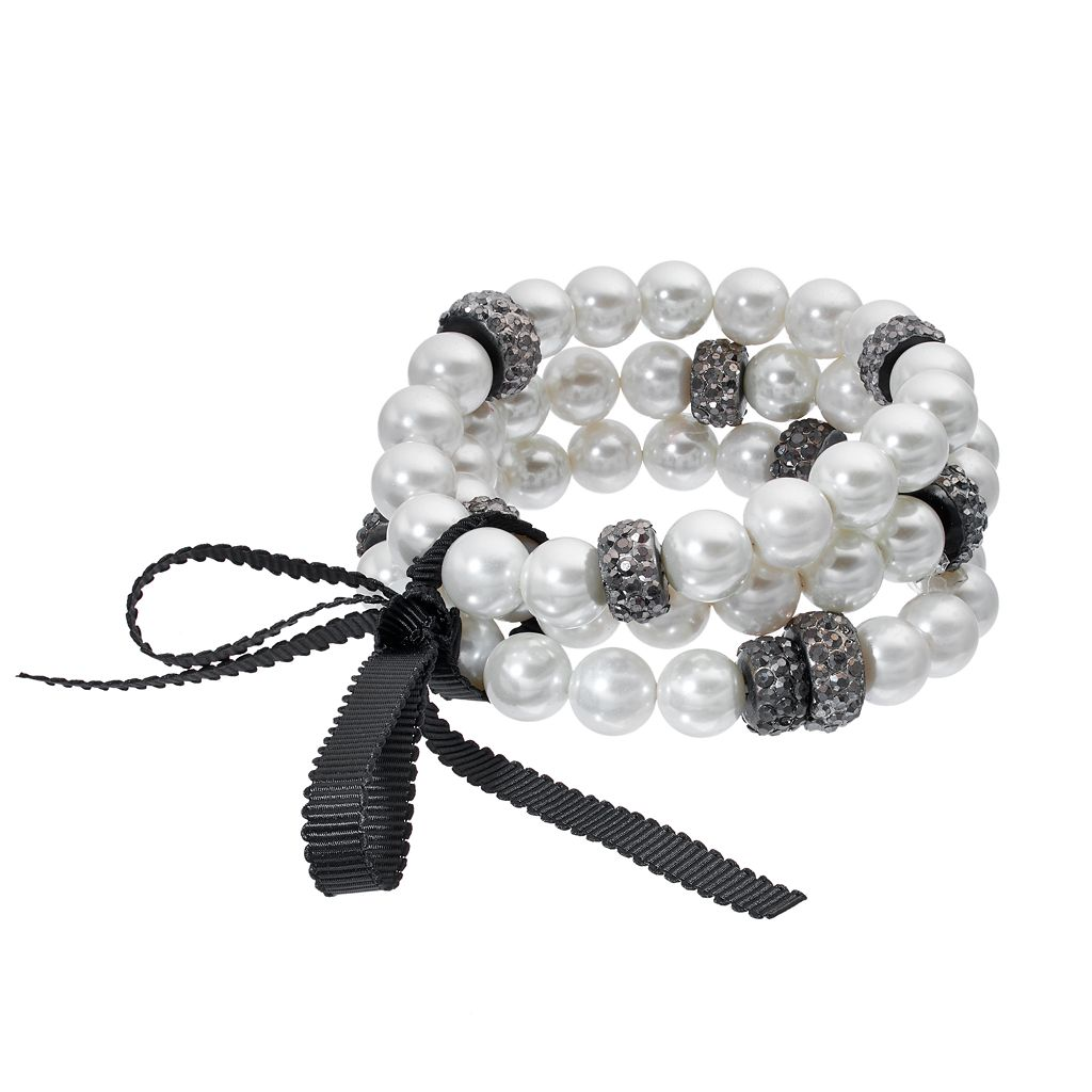 Simply Vera Vera Wang Simulated Pearl Stretch Bracelet Set