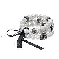 Simply Vera Vera Wang Simulated Pearl Stretch Bracelet Set
