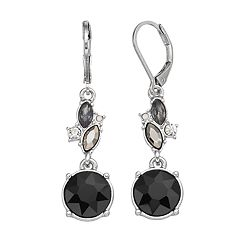Simply Vera Vera Wang Faceted Stone Cluster Drop Earrings