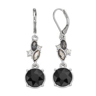 Simply Vera Vera Wang Faceted Stone Cluster Drop Earrings