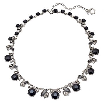 Simply Vera Vera Wang Black Graduated Stone Cluster Necklace