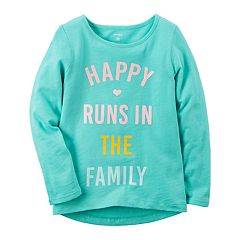 Girls 4-8 Carter's 'Happy Runs In The Family' Long-Sleeved Tee