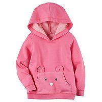 Girls 4-8 Carter's Pink 1-Pocket Hoodie
