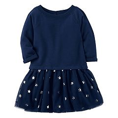 Girls 4-8 Carter's Star & Tulle Sweater Dress