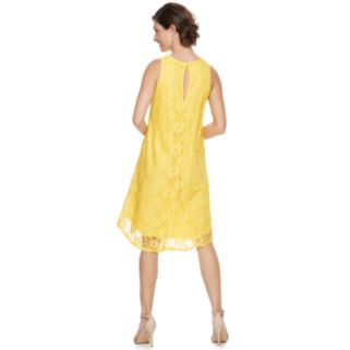 Women's Zac And Rachel Sleeveless Daisy Floral Lace Dress