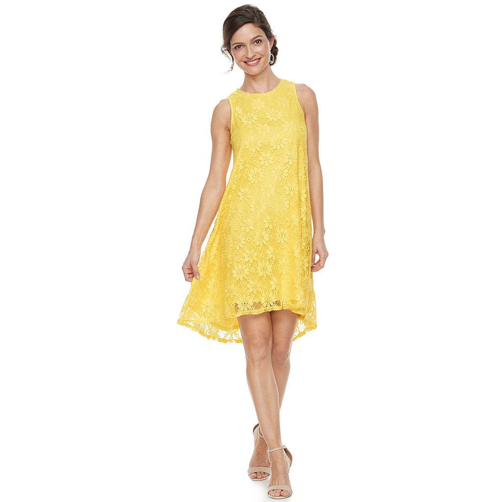 Women's Zac And Rachel Sleeveless Daisy Floral Lace Dress