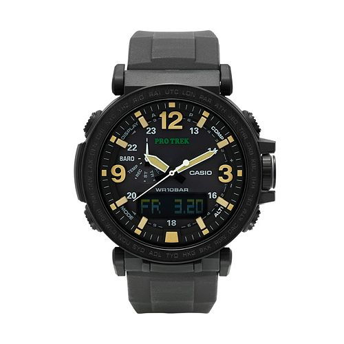 Casio Men's PRO TREK Triple Sensor Analog-Digital Tough Solar Watch - PRG-600Y-1CR