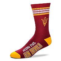 Adult For Bare Feet Arizona State Sun Devils Deuce Striped Crew Socks