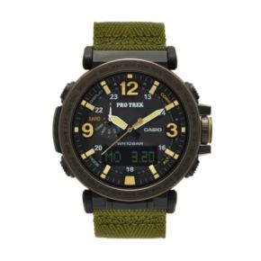 Casio Men's PRO TREK Triple Sensor Analog-Digital Tough Solar Watch - PRG-600YB-3CR