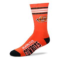 Adult For Bare Feet Oklahoma State Cowboys Deuce Striped Crew Socks