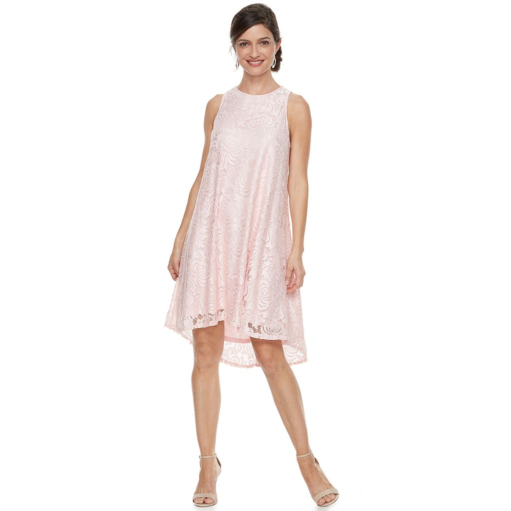 Women's Zac And Rachel Sleeveless A-Line Lace Dress