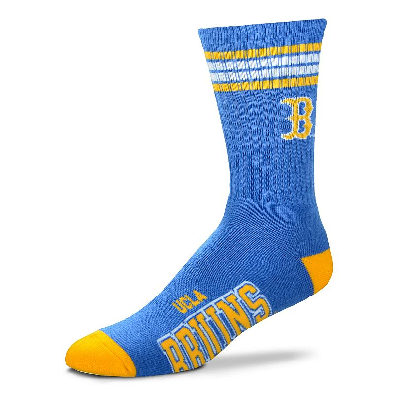 Adult For Bare Feet UCLA Bruins Deuce Striped Crew Socks, Men's, Size: Large, Team