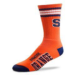 Adult For Bare Feet Syracuse Orange Deuce Striped Crew Socks