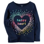 "Girls 4-8 Carter's ""Happy Heart"" Tee"