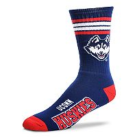 Adult For Bare Feet UConn Huskies Deuce Striped Crew Socks