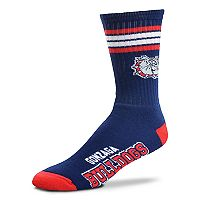 Adult For Bare Feet Gonzaga Bulldogs Deuce Striped Crew Socks