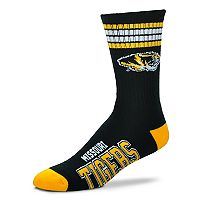 Adult For Bare Feet Missouri Tigers Deuce Striped Crew Socks