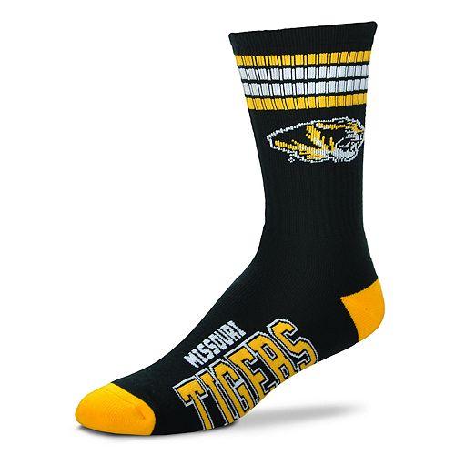 Adult For Bare Feet Missouri Tigers Deuce Striped Crew Socks