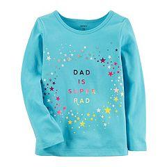 Girls 4-8 Carter's 'Dad Is Super Rad' Glitter Tee