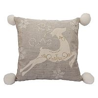 St. Nicholas Square® Prancing Deer Throw Pillow