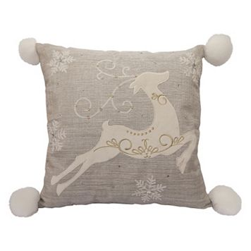 St. Nicholas Square® Prancing Deer Throw Pillow