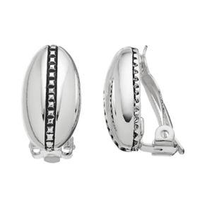 Dana Buchman Oval Studded Nickel Free Clip On Earrings