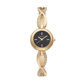 Armitron Women's Crystal Crisscross Watch - 75/5495BKGP