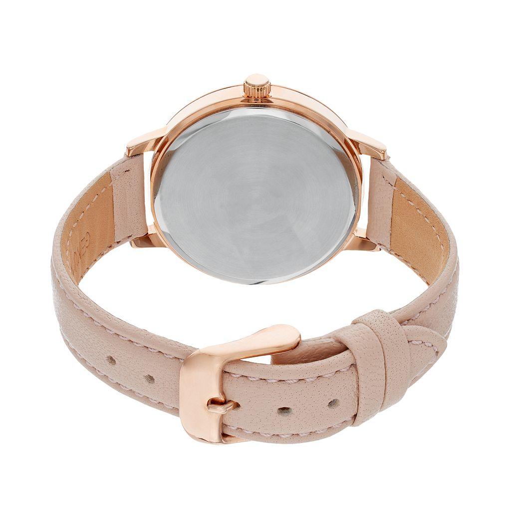 Armitron Women's Crystal Leather Watch - 75/5503MPRGBH