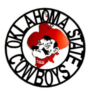 Oklahoma State Cowboys 24-Inch Wrought Iron Wall Décor